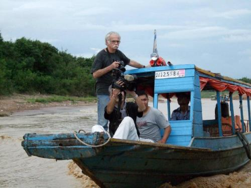 Tonle Sap 8 May 2012  - Al Rockoff a buddy to the last: ' Man, you ain't see nothing till you lost the best friend you had!' Photo by Collin Grafton