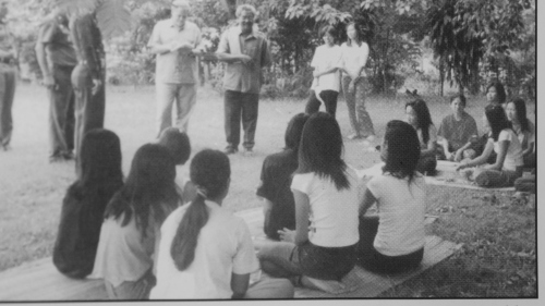Girls Rehab Center, Maesai: Our heroine Thanayaporn is the diminutive girl standing 2nd right