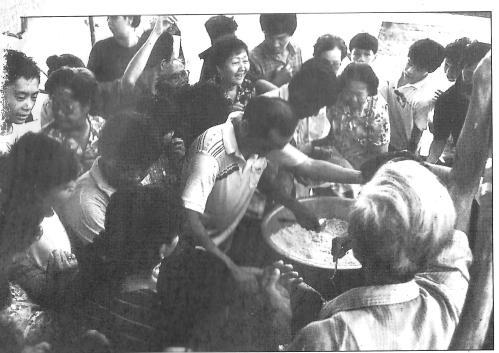 Nasi Kunyit Kenduri feast for all and sundry